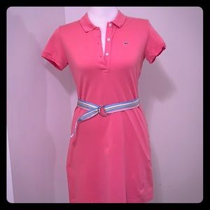 Preppy Lacoste pink polo shirt style dress 42 orM